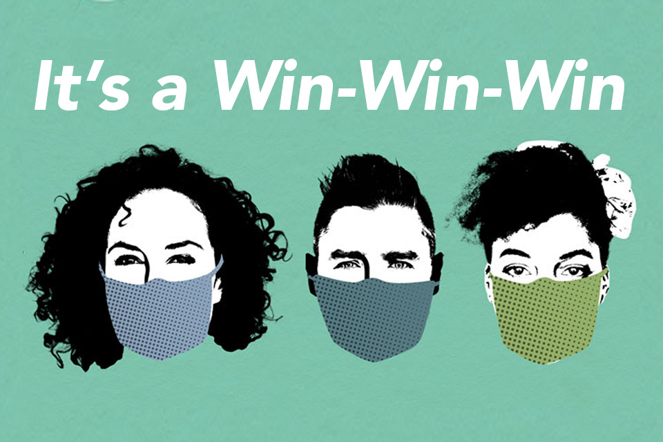 Custom Masks are a WIN-WIN-WIN: Keep Students Safe, Fundraise and Show School Spirit