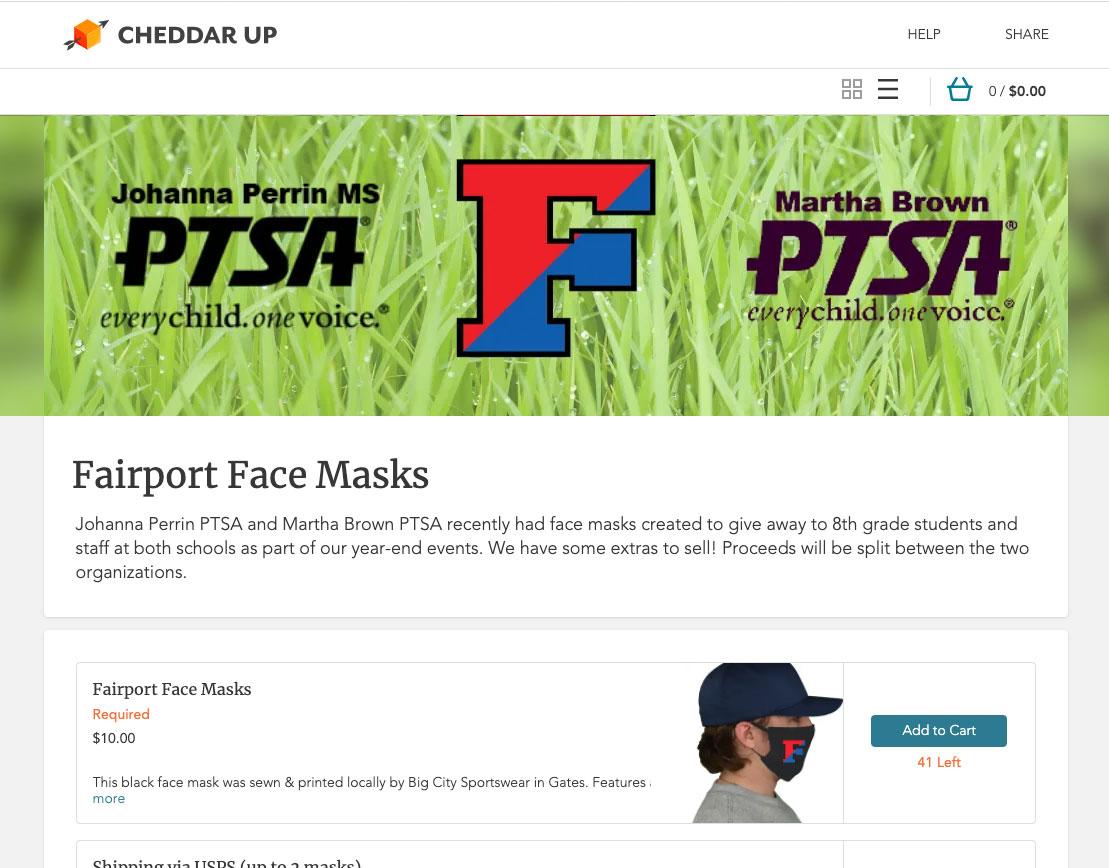 school spiritwear masks