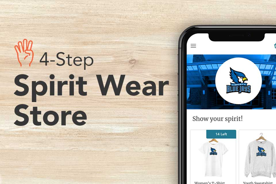 Create an Online Spirit Wear Store in 4 Easy Steps